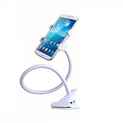 ShopAis Universal Flexible 360 Digree Snake Style Long Lazy Stand white005 Mobile Holder