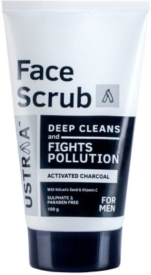 Ustraa Activated Charcoal - Anti-pollutant Face Scrub(100 g)