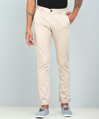Arrow Sport Regular Fit Men Beige Trousers at flipkart