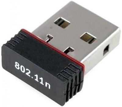 piqancy Wi Fi Receiver 300Mbps, 2.4GHz, 802.11b/g/n USB 2.0 Wireless Mini Wi Fi Network USB Adapter Black