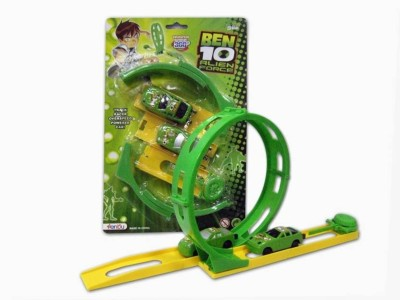 Ben 10 Racing car with Track (Green)(Green)
