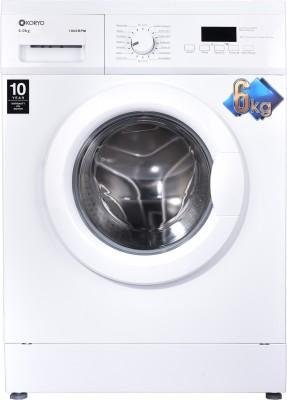 Koryo 6 kg Fully Automatic Front Load Washing Machine White(KWM1060FL) (Koryo)  Buy Online