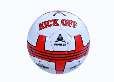Pioneer PU Football Kick Off Football - Size: 5(Pack of 1, White)