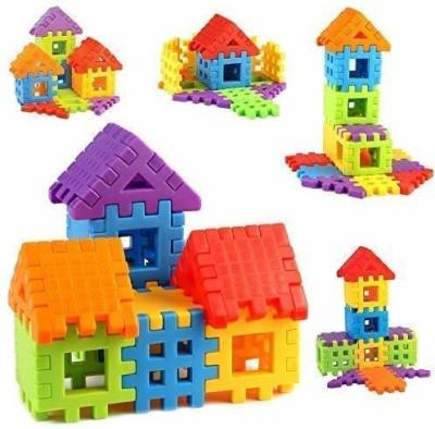 Nabhya Senior PVC Packing Building Blocks Early Learning Educational Toy For Kids Age 2 To 5  30 Blocks  Multicolor Nabhya Blocks   Building Sets