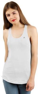 ADIN Casual Sleeveless Solid Women White Top ADIN Women's Tops