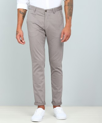 Arrow Sport Regular Fit Men Grey Trousers
