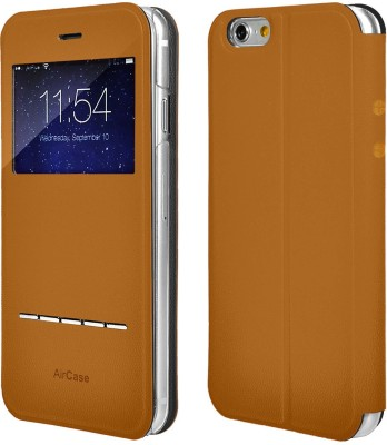Airplus Flip Cover for Apple iPhone 6 Plus(Tan-Brown)