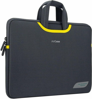 """AirCase Sleeve for 15.6\"""" Inch Laptops Designer Neoprene Protective Handle(Space Gray)"""