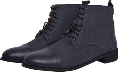 Elitous Suede Dress Boots For Men (Navy Blue) Boots For Men(Blue)