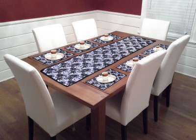 Achintya Black PVC Table Linen Set at flipkart