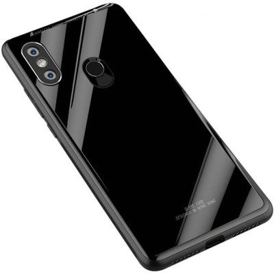 DHAN GRD Back Cover for VIVO Y95 Luxurious Shockproof TPU Bumper Back Glass Case Cover Toughened