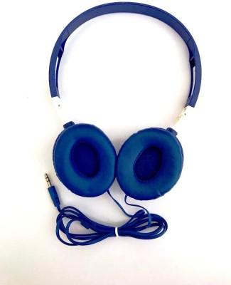laxes Classic headphone compatible with all devices (blue) Wired Headphone(Blue, On the Ear)