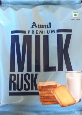 Amul Premium Milk Rusk 200Grm (Pack Of 3) By PadelaSuperStore Milk flavored Buttermilk Rusk(3 x 200 g)