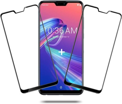 Hupshy Edge To Edge Tempered Glass for Asus Zenfone Max Pro M2(Pack of 2)
