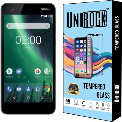 Unirock Tempered Glass Guard for Nokia 2 (Pewter/ Black, 8 GB)(Pack of 3)