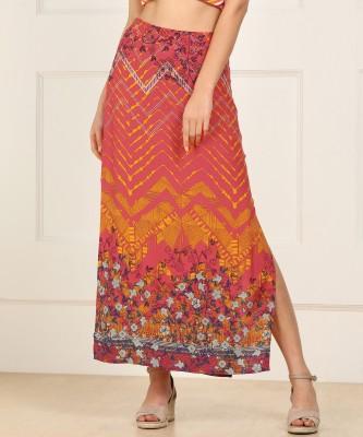 Global Desi Printed Women Straight Multicolor Skirt