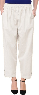 AAKRITHI Regular Fit Women White Trousers