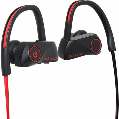 Red Lemon Bolt S280 Bluetooth Sports Stereo Wireless IPX7 Waterproof Bluetooth Headset(Red-Balck, In the Ear)