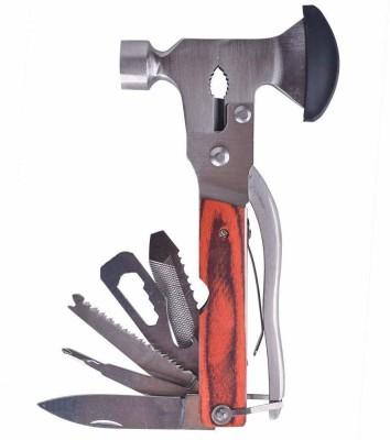 Auslese 16N1HAMMER Multi Utility Plier(16 Tools, Silver, Brown)