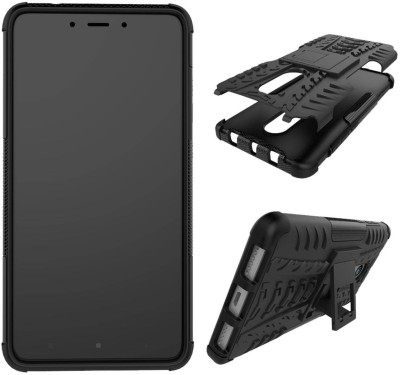 Case Creation Front & Back Case for Mi Redmi 5(Dark Hybrid Black, Sound Amplifying Case)