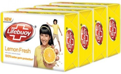 Lifebuoy new lemon fresh 125 g (pack of 4)(125 g, Pack of 4)