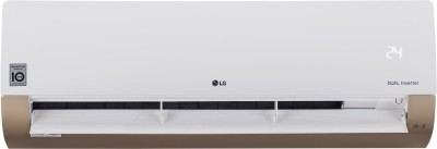 LG 1 Ton 3 Star Split AC  - White, Gold(KS-Q12AWXD, Copper Condenser)   Air Conditioner  (LG)