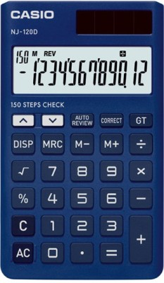 Casio NJ-120D-BU Portable Basic Calculator(12 Digit)