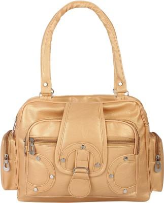 Now & Wow Gold Messenger Bag