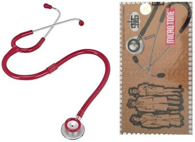 MSI Original Microtone Burgundy Stethoscope with Black and Pink tube with Ear Piece and Diaphragm Acoustic Stethoscope Acoustic Stethoscope(Burgundy)