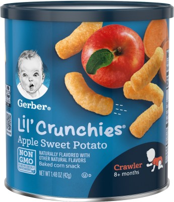 Gerber Lil'crunchies Apple Sweet potato 42g Cereal(0.42, 8+ Months)