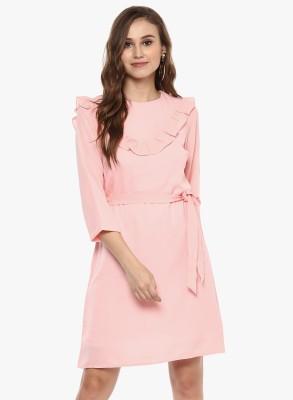 Provogue Women Shift Pink Dress