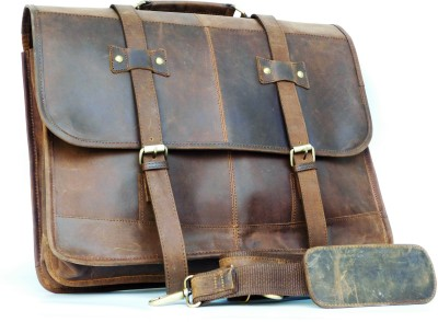 hks 17 inch Laptop Messenger Bag Brown hks Laptop Bags