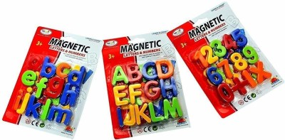 ARMD Magnetic Letters   Numbers Alphabet Fridge Magnets Colorful Plastic ABC abc 123 Educational Learning Toy Set Multicolor ARMD Educational Toys