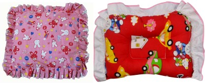 Poddar Fashion Square cotton Baby Pillow Pack of 2(Multicolor)