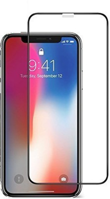 Ansh Royal Tempered Glass Guard for 5D Protection Apple iPhone X (Black Color, 5.8 Inch)(Pack of 1)