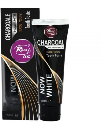 Rivaj UK Charcoal Now White Super Pure Tooth Paste Toothpaste(100 g)