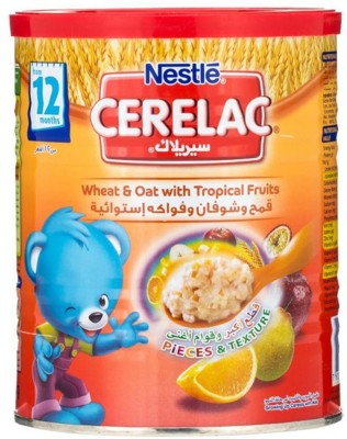 Nestle Cerel Wheat,Oat And Tropical Fruits -Imported Cereal(400 g, Pre-term)