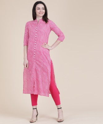 Divastri Women's Embroidered Straight Kurta(Pink)