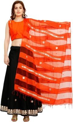 Salwar Studio Embroidered Stitched Lehenga Choli(Black, Orange)