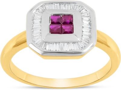RAKAM 18kt Diamond, Ruby Yellow Gold ring