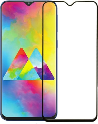 Karpine Edge To Edge Tempered Glass for Samsung Galaxy M20(Pack of 1)