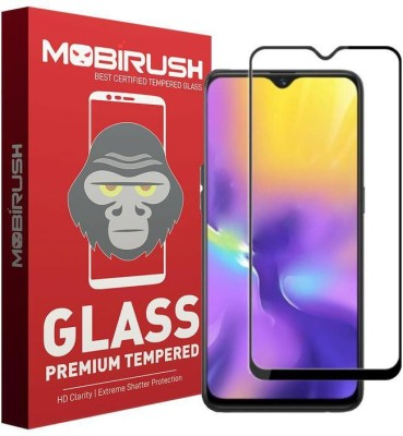 MOBIRUSH Edge To Edge Tempered Glass for Samsung Galaxy M20, Samsung Galaxy A10(Pack of 1)
