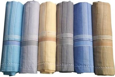 Shop At Bargain SBS Multicolor Men's Cotton 45x45Cm Pack of 6 Handkerchief-Pack of 6 Handkerchief(Pack of 6)