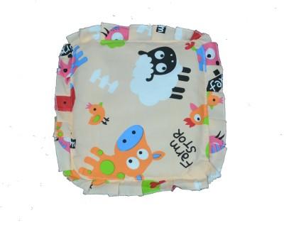 Poddar Fashion Square Cotton Rai Baby Pillow(Multicolor)