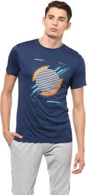 Allen Solly Printed Men Round Neck Dark Blue T-Shirt