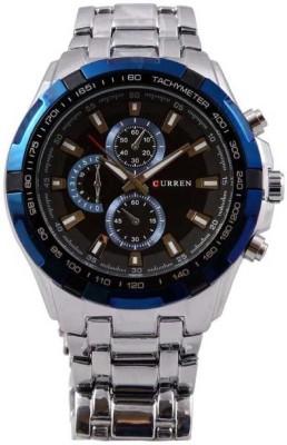 Curren Blue Edge Analog Watch   For Men Curren Wrist Watches