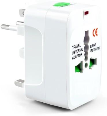 AlexVyan Universal International World Wide Travel Power Plug, European Adapter, Worldwide AC Outlet Plugs Adapters Worldwide Adaptor White AlexVyan L