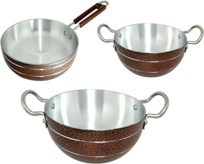 bartan hub Cookware Set Aluminium, 3   Piece
