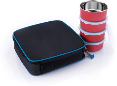 Vittamix Airtight Multicolour Stainless Steel  Mircrowaw Safe  4 Containers Lunch Box 120 ml Vittamix Lunch Boxes