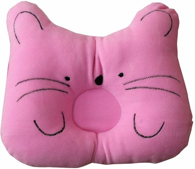 MOM & SON CAT SHAPE Baby Pillow Pack of 1(Pink)